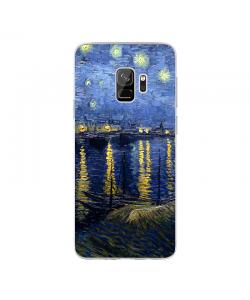Van Gogh - Starryrhone - Samsung Galaxy S9 Carcasa Transparenta Silicon