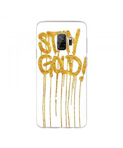 Stay Gold - Samsung Galaxy S9 Carcasa Transparenta Silicon