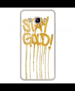 Stay Gold - Samsung Galaxy J7 Carcasa Silicon Transparent