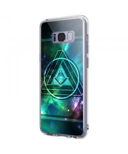 Triangle Galaxy 2 - Samsung Galaxy S8 Carcasa Premium Silicon