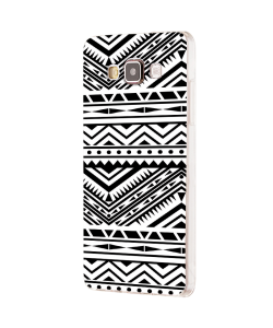 Tribal Black & White - Samsung Galaxy J5 Carcasa Silicon