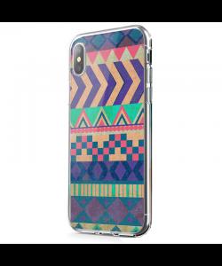 Tribal Pastel - iPhone X Carcasa Transparenta Silicon