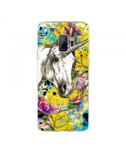 Unicorns and Fantasies - Samsung Galaxy S9 Carcasa Transparenta Silicon