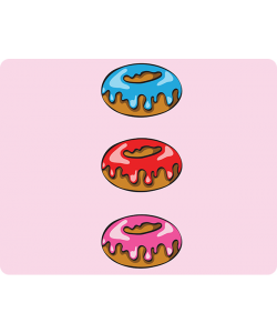 Frosted Donuts - Huawei P10 Lite Carcasa Transparenta Silicon