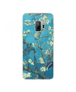 Van Gogh - Branches with Almond Blossom - Samsung Galaxy S9 Carcasa Transparenta Silicon