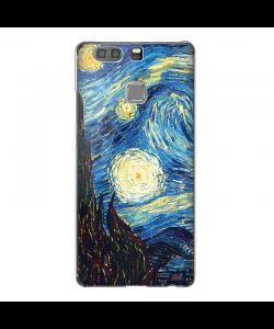 Van Gogh Starry Night- Huawei P9 Plus Carcasa Transparenta Silicon