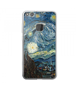 Van Gogh - Starry Night - Huawei P10 Lite Carcasa Transparenta Silicon