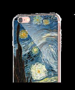 Van Gogh - Starry Night - iPhone 6 Carcasa Transparenta Silicon