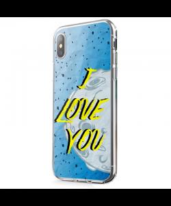 I Love You - iPhone X Carcasa Transparenta Silicon
