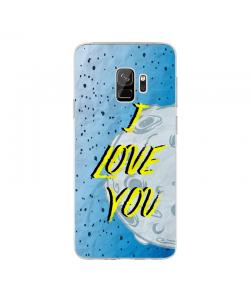 I Love You - Samsung Galaxy S9 Carcasa Transparenta Silicon