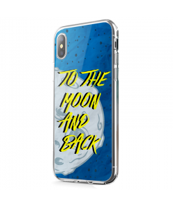 To the Moon and Back - iPhone X Carcasa Transparenta Silicon