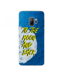To the Moon and Back - Samsung Galaxy S9 Plus Carcasa Transparenta Silicon