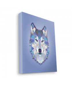 Origami Wolf - Canvas Art 35x30