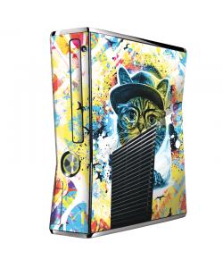 Hipster Meow - Xbox 360 Slim Skin