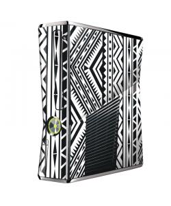 Tribal Black & White - Xbox 360 Slim Skin