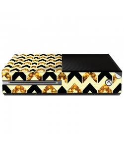 Black & Gold - Xbox One Consola Skin