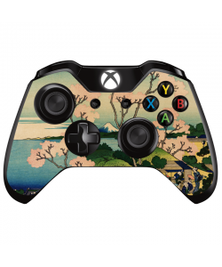 Hokusai - The Fuji from Gotenyama at Shinagawa on the Tokaido - Xbox One Controller Skin