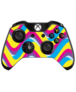CMYK Waves - Xbox One Controller Skin