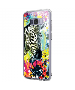 Zebra Splash - Samsung Galaxy S8 Carcasa Premium Silicon