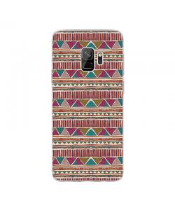 Zig-Zag Carpet - Samsung Galaxy S9 Carcasa Transparenta Silicon